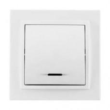 Выключатель одноклавишный с подсветкой TA  10-139